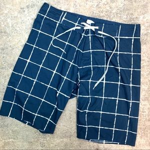 Old Navy Checkered Board Short Swimsuit